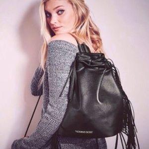 Victoria's Secret Fashion Show Fringe Backpack Bag